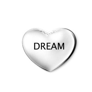 Silver Dream Heart Floating Charm