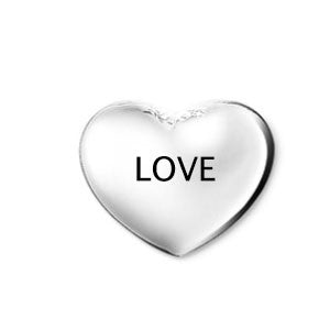 Silver Love Heart Floating Charm