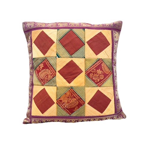 Patchwork Indian Cushion Cover - assorted