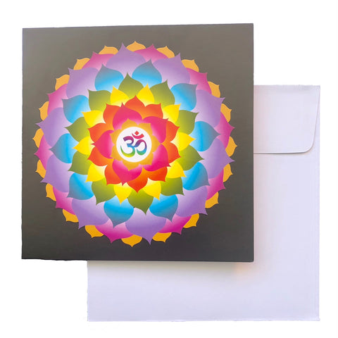 Card - OM RAINBOW FLOWER