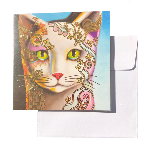 Card - ADORNED CAT FACE