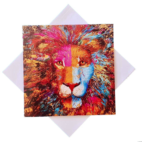 Card - PAINTED LION