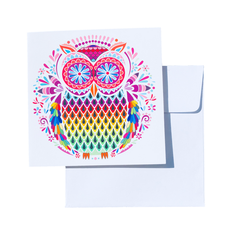 Card - FLOWER OWL