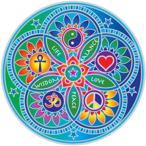 Window Decal - LIVING ENERGIES MANDALA Sunseal