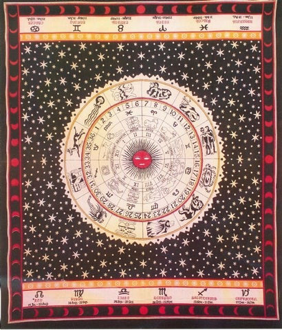 Cotton Zodiac Tapestry - Large