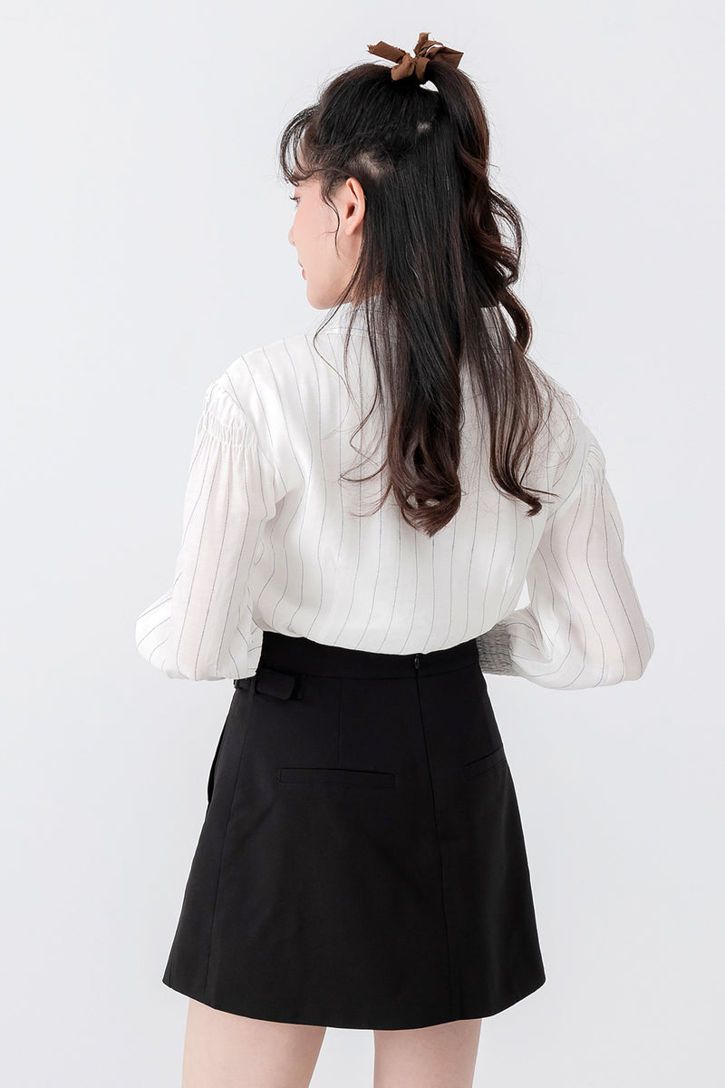 DG bottom Belle Black Skirt (Pre-order 25/11) Cocktail Lace Ruffle Offshoulder Ribbon Onepiece Openback Work Dating Birthday Wedding