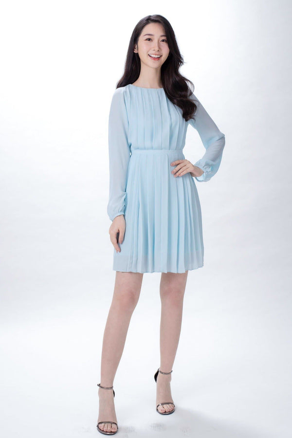 Ariel Light Blue Dress (Pre-order: 13 Apr) - MyAleshia 蕾絲 洋裝 香港網店 輕婚紗 免運費 aleshia