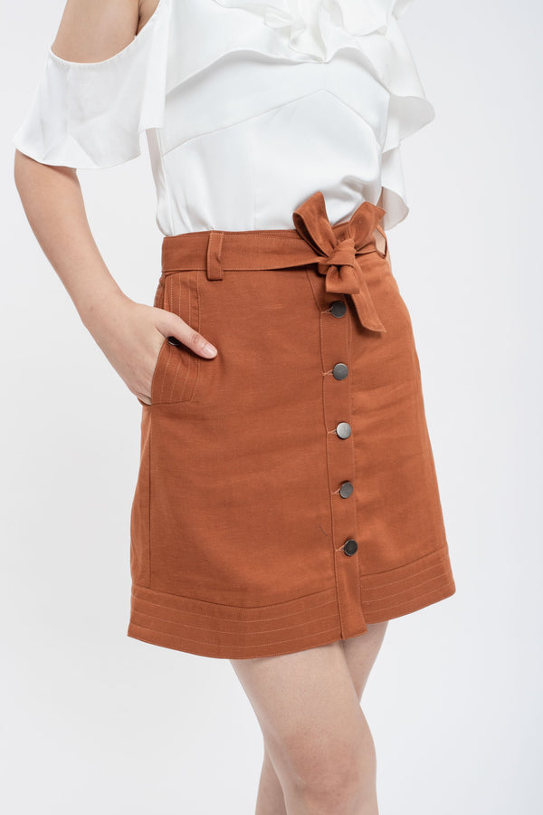 Eliza Brown Skirt