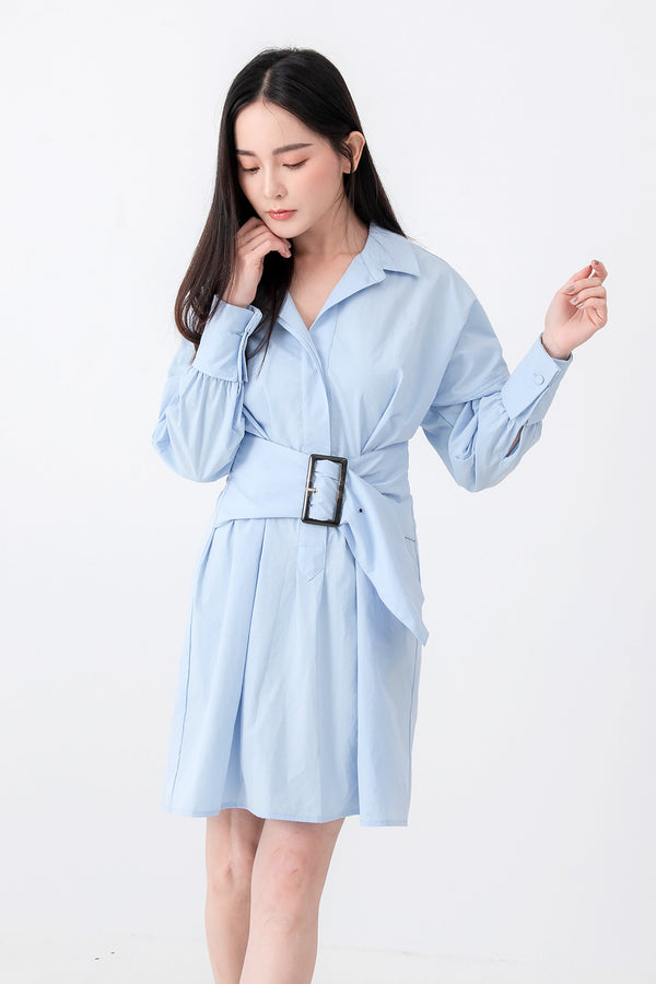 SZ Dress Mika Blue Dress (Pre-order 17/11) Cocktail Lace Ruffle Offshoulder Ribbon Onepiece Openback Work Dating Birthday Wedding