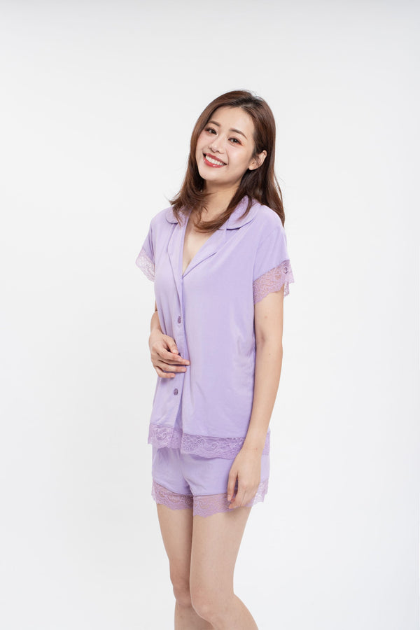 Love Me Purple Pyjamas Set