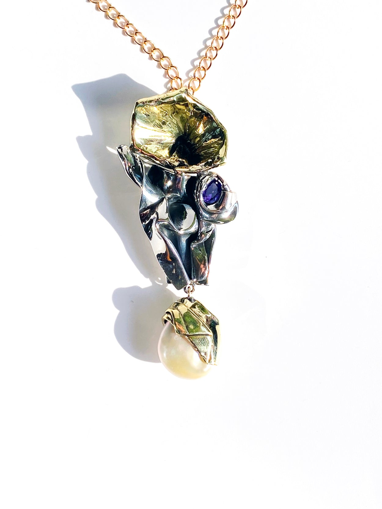 Baroque Pearl Abstract Pendant