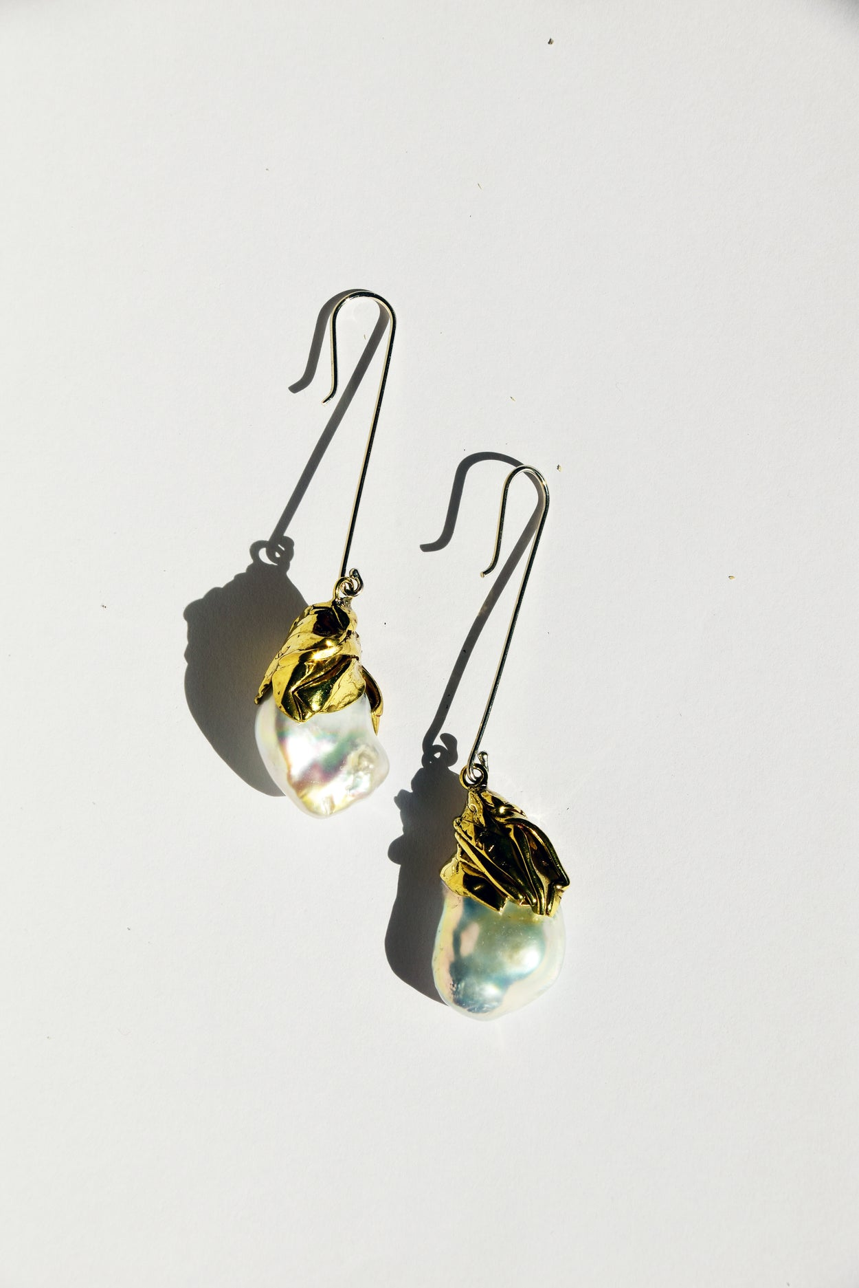 Draped Pearl Drop Earrings