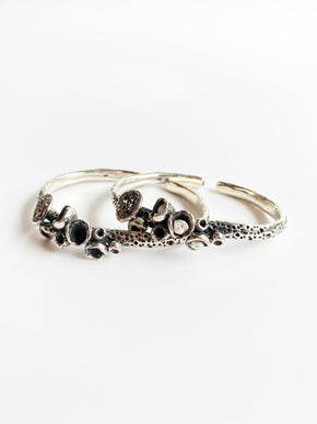 Studio Metallurgy Silver Coral bangle