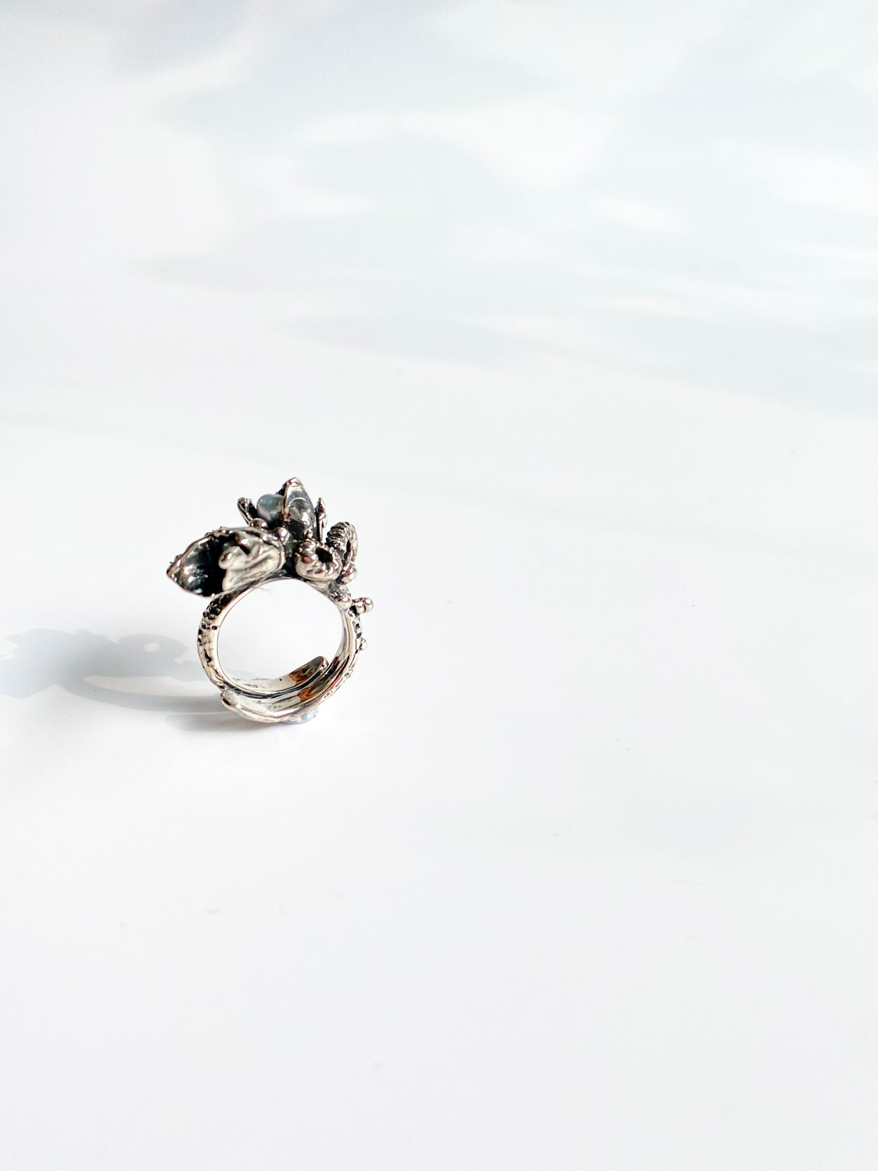 The Silver Coral Talisman Ring // 01