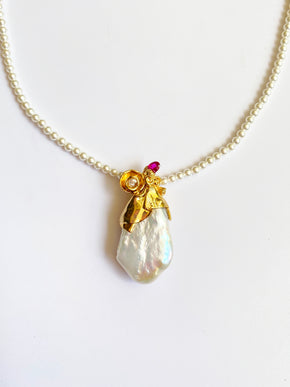 Studio Metallurgy Pearl Pendant