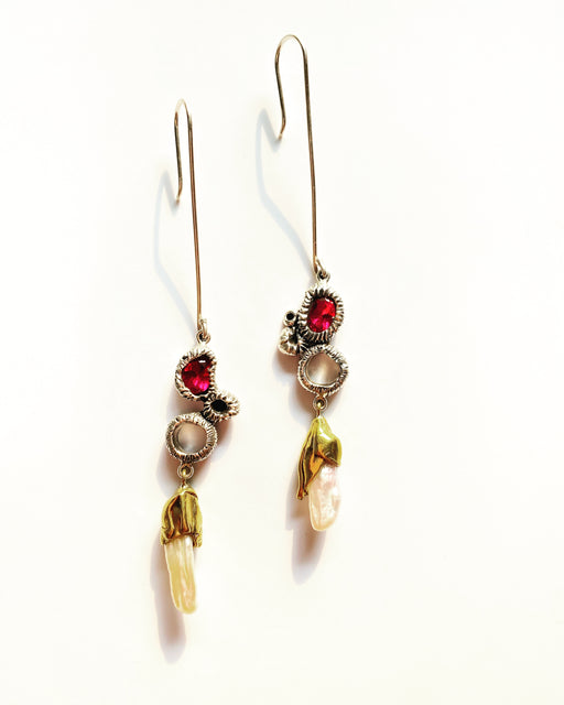 studio metallurgy treasure earrings limited edition jewelry