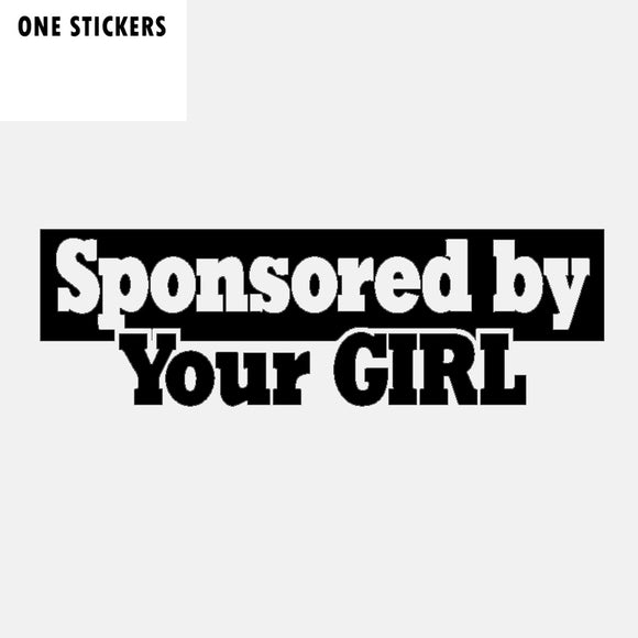 15.8CM*4.8CM Funny Sponsored By Your Girl Vinyl High-quality Car Sticker Decal Black Silver C11-1521