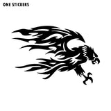 15CM*10CM Personality Decoration Flying EAGLE Vinyl Car Sticker Decal Black/Silver C15-0874