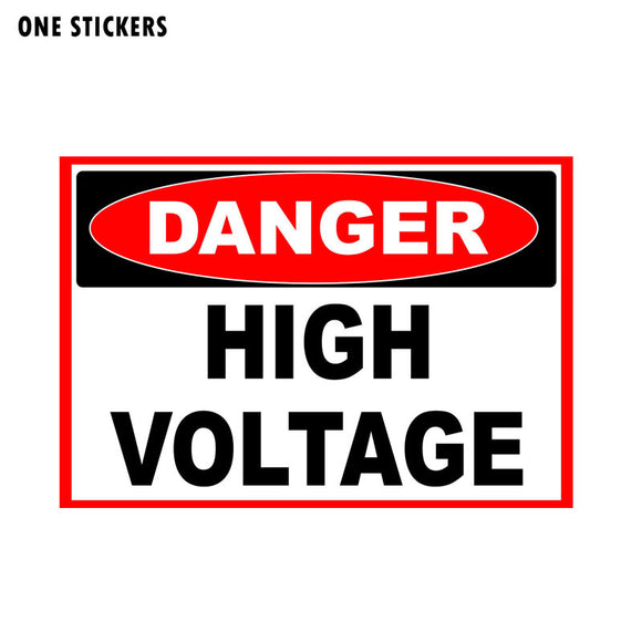 12.7CM*8.6CM Warning Car Sticker Reflective PVC DANGER HIGH VOLTAGE Decal 12-1171