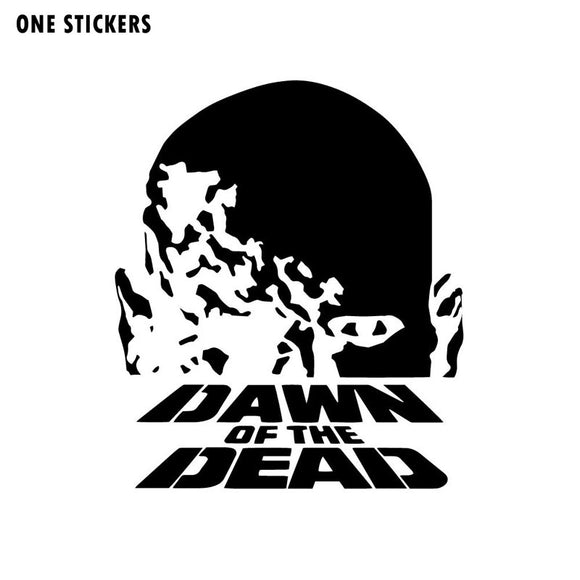 11.9x14CM Personality Dawn of the Dead George A Romero Horror ZOMBIE Decal Car Sticker Black/Silver Vinyl S8-1202