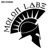 10.2CMX11CM MOLON LABE SPARTAN Vinyl Windows Decals Car Sticker Accessories Black/Silver C1-3150