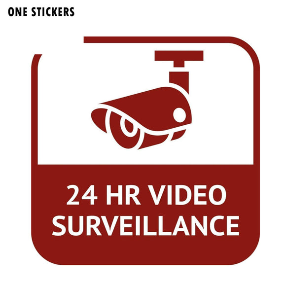 15.9CM*15.9CM Personality CCTV 24 Hour Video Surveillance Car Sticker Funny PVC Decal 12-0545