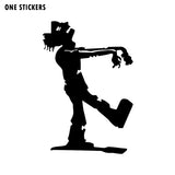 9x13.3CM Halloween Decor Retro Walking ZOMBIE Silhouette Vinyl Decals Car-styling Car Sticker S8-1222