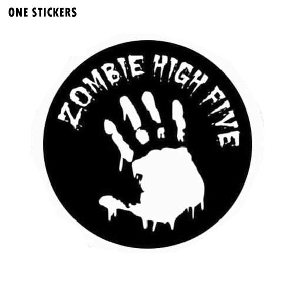 16*16CM Fashion ZOMBIE High Five Black/Silver Vinyl Decals Motorcycle Car Stickers Car-styling S8-1266