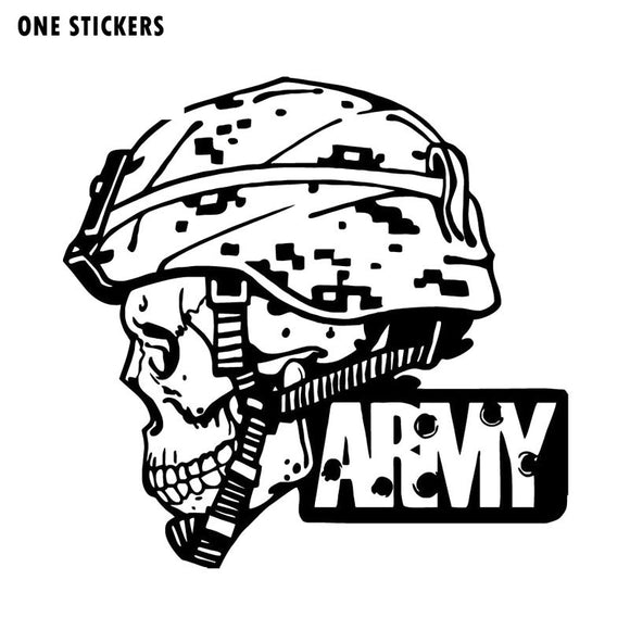 20X19.4CM ARMY Military Police Soldier Skull Originality Vinyl Decal Car Sticker S8-0690