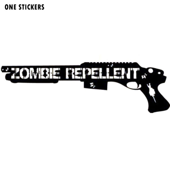 16.3CMX5CM Funny ZOMBIE Repellent Assault Shotgun Decal Car Sticker Vinyl Car-styling S8-1188