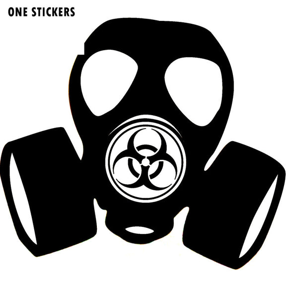 11.5*10.4CM Fashion Hazard Gas Mask Toxic Steampunk ZOMBIE Vinyl Decal Car Sticker Black/Silver S8-1294