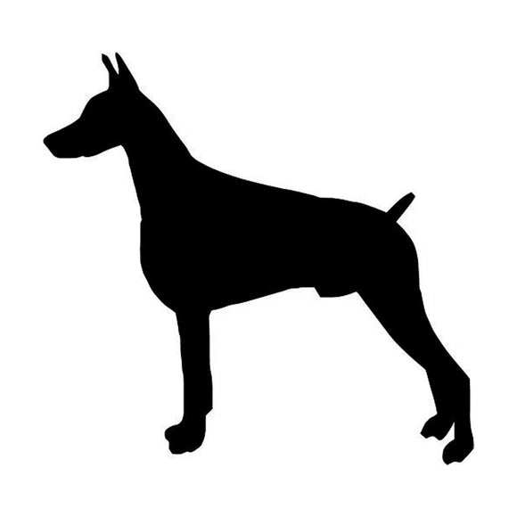 10.1*9.7CM Doberman Dog Vinyl Decal Personality Waterproof Car Stickers Car Styling Accessories Black/Silver S1-0371