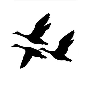 10*12.5CM Ducks Flying Car Sticker Decals Creative Decorative Bird Hunting Waterfowl Motorcycle Car Stickers C2-0118
