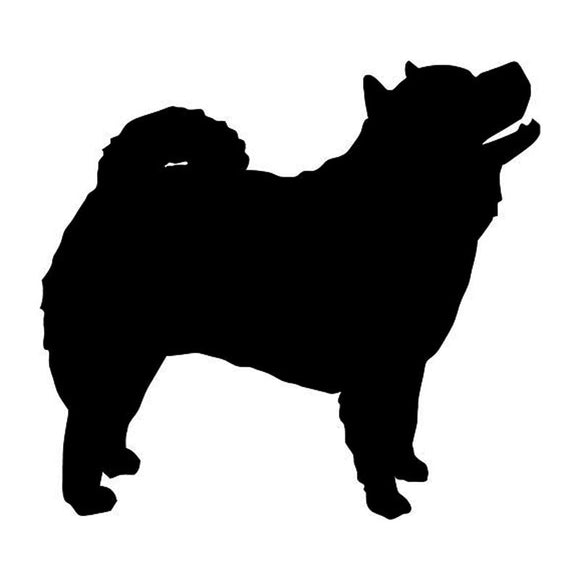 10.2*9.5CM Chow Chow Dog Vinyl Decal Waterproof Car Window Stickers Bumper Car Styling Black/Silver S1-0377