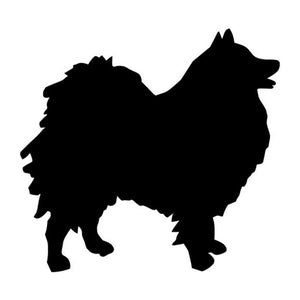 10.2*9.5CM German Spitz Dog Vinyl Decal Waterproof Car Stickers Motorcycle Car Styling Accessories Black/Silver S1-0479