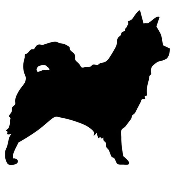 10.2*9.5CM Longhaired Chihuahua Dog Car Stickers Cute Decals Car Tail Styling Decorative Black/Silver S1-0235