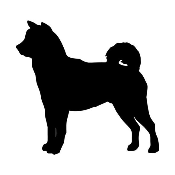 10.2*9.5CM Shiba Inu Dog Vinyl Decal Lovely Car Stickers Car Window Styling Decoration Accessories Black/Silver S1-0386