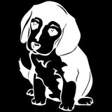 10.3*15.2CM Beagle Puppy Dog Vinyl Decal Cute Reflective Car Stickers Car Styling Decoration Black/Silver S1-0522