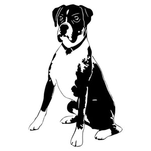 10.5*16CM Boxer Dog Vinyl Decal Personality Car Stickers Car Styling Truck Decoration Black/Silver S1-1059