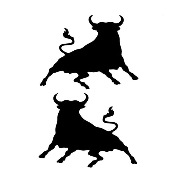 10.5*16CM Spanish Bull Car Stickers Cattle Performance Motorcycle Race Car Stickers And Decals C2-0042