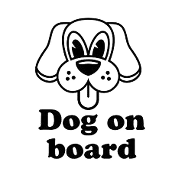10.5CM*13.4CM Dog On Board Animals Cute Puppy Car Vinyl Sticker Decal Window Kids Car Styling Car Sticker Black/Sliver C8-0195