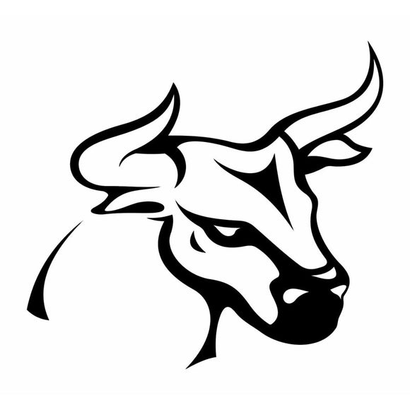 10.9*10.1CM Classic Tattoo Bull Simple Design Decal Car Styling Decoration Vinyl Car Stickers Black/Silver S1-2657
