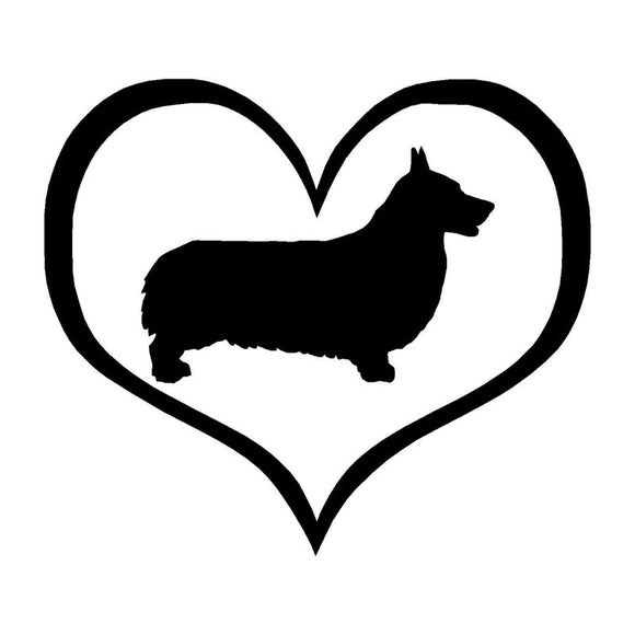 10.9*9.5CM Pembroke Welsh Corgi Dog Vinyl Decal Car Tail Stickers Car Styling Decoration Black/Silver S1-0461