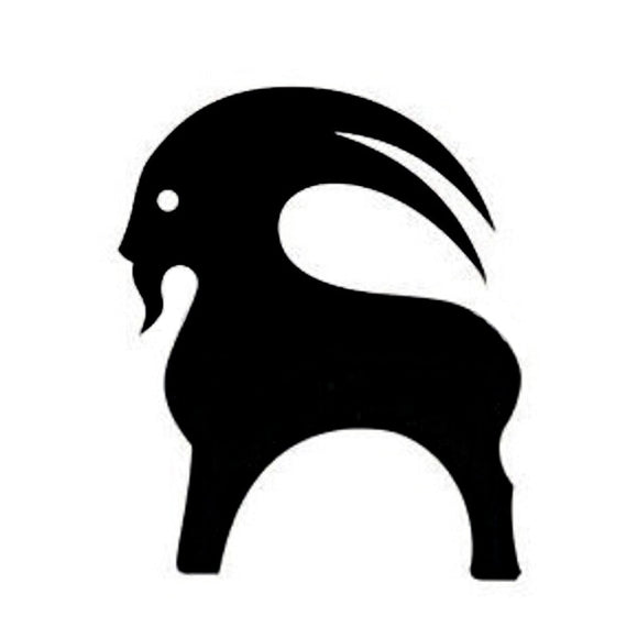 11*13.5CM GOAT Cartoon Car Stickers Motorcycle Decals Car styling Accessories Black/Silver C2-0186
