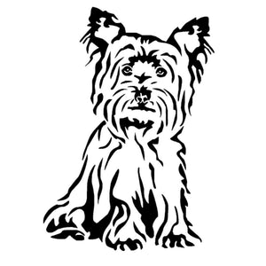 11.2*16CM Yorkshire Terrier Dog Car Stickers Cute Vinyl Decal Car Styling Truck Decoration Black/Silver S1-0952