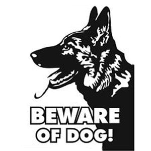 11.3CM*15.3CM Beware Of God Sheep-Dog Decal Vinyl Car Sticker And Decals Motorcycle Car Styling Black/Sliver C8-0136