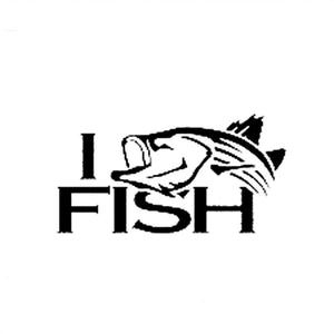 11.3CM*5.8CM Striper Striped bass fishing I Fish Truck Car Vinyl Decal Sticker Car Styling For Black/Sliver C8-0128