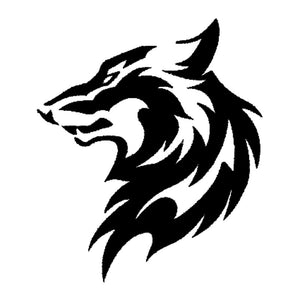 11.5*13.3CM Tribal Car Styling Wolf Head Pattern Car Sticker Creative Vinyl Car Styling Decal Black/Silver S1-2314