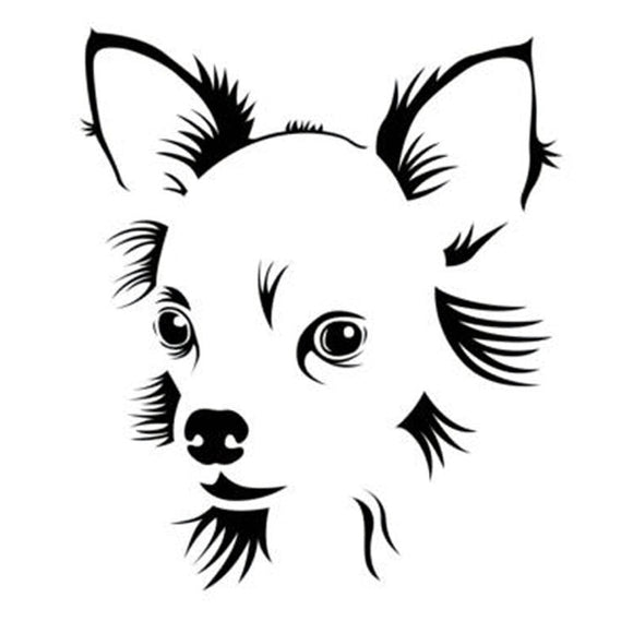 11.5*13.5CM Chihuahua Pet Dog Car Stickers Cute Vinyl Decal Car Styling Truck Decoration Black/Silver S1-0764