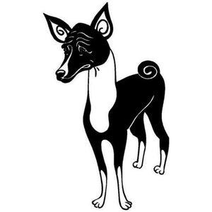 11.5*17.8CM Basenji Dog Car Stickers Art Creative Vinyl Decal Car Styling Accessories Decoration Black/Silver S1-0579